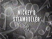Mickey's Steamroller Cartoon Pictures