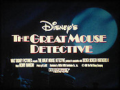 The Great Mouse Detective Video