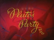 Pluto's Party Free Cartoon Pictures