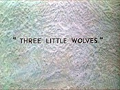 Three Little Wolves Cartoon Pictures