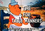 Time For Table Manners Cartoon Picture