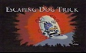 Escaping Dog Trick Cartoon Picture