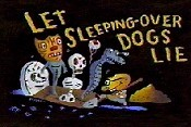 Let Sleeping-Over Dogs Lie Cartoon Picture