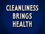 Cleanliness Brings Health Cartoon Picture