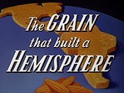 The Grain That Built A Hemisphere Cartoon Picture