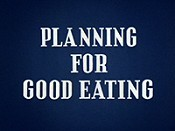 Planning For Good Eating Cartoon Picture