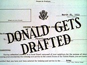Donald Gets Drafted Free Cartoon Picture