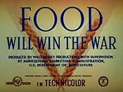 Food Will Win The War Cartoon Picture