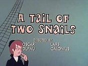A Tale Of Two Snails Free Cartoon Picture