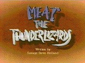 Meat The Thunderlizards Picture Of Cartoon