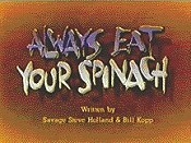 Always Eat Your Spinach Cartoon Picture