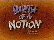 Birth Of A Notion Free Cartoon Picture