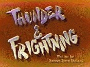 Thunder & Frightning Cartoon Picture