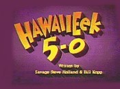 HawaiiEek 5-0 Picture Into Cartoon