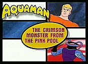 The Crimson Monster From The Pink Pool Free Cartoon Picture