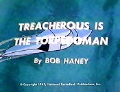 Treacherous Is The Torpedoman Cartoon Picture