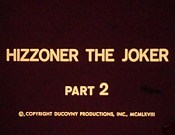 Hizzoner The Joker Free Cartoon Picture