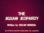 The Jigsaw Jeopardy The Cartoon Pictures