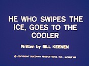 He Who Swipes The Ice, Goes To The Cooler Free Cartoon Picture