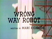 Wrong Way Robot Cartoon Picture