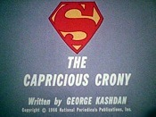 The Capricious Crony