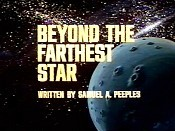 Beyond The Farthest Star Cartoon Character Picture