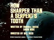 How Sharper Than A Serpent's Tooth Picture To Cartoon
