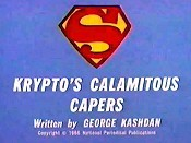 Krypto's Calamitous Capers Free Cartoon Picture