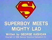 Superboy Meets Mighty Lad Cartoon Funny Pictures