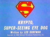 Krypto, Super-Seeing Eye Dog Cartoon Character Picture