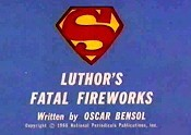 Luthor's Fatal Fireworks Free Cartoon Picture
