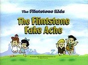 The Flintstone Fake Ache Cartoon Character Picture