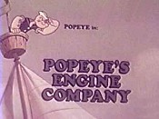 Popeye's Engine Company Cartoon Funny Pictures