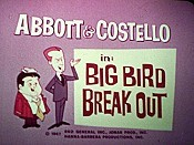 Big Bird Break Out Cartoon Picture