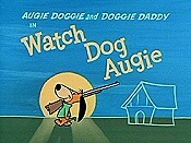 Watch Dog Augie Cartoon Character Picture
