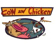 Cow And Chicken Reclining Cartoon Picture