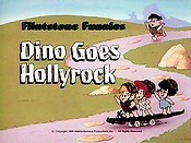 Dino Goes Hollyrock Picture Into Cartoon