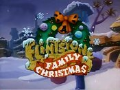 A Flintstone Family Christmas Picture Of The Cartoon