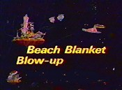 Beach Blanket Blow-Up Picture Into Cartoon