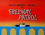 Freeway Patrol Picture Into Cartoon
