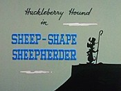 Sheep-Shape Sheepherder Cartoon Picture
