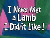I Never Met A Lamb I Didn't Like! Picture Into Cartoon