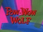 Pow-Wow Wolf Cartoon Picture