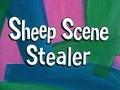 Sheep Scene Stealer Free Cartoon Picture