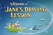 Jane's Driving Lesson Cartoon Picture