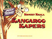 Kangaroo Kapers Free Cartoon Picture