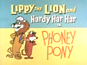 Phoney Pony Cartoon Picture