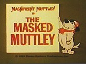 The Masked Muttley Picture Into Cartoon