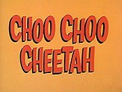 Choo Choo Cheetah Free Cartoon Picture