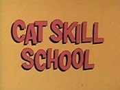 Cat Skill School Free Cartoon Picture